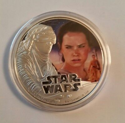 2016 Star Wars (The Force Awakens) $2 Proof Niue Coin 1 Oz Silver, Rey