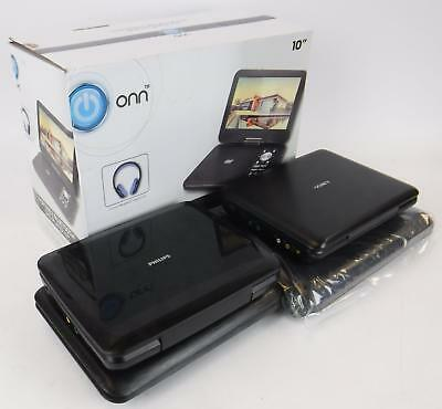Lot of 4 Portable DVD Players Philips Sony & Onn USED TESTED & WORKING