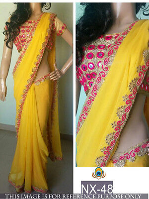 Ethenic Collection of Indian Designer Traditional Party Wear Saree-Sari-NX-48