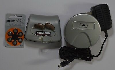 Pre Owned A Pair Of Kirkland Ksha04 Bte Digital Hearing Aids With Charger