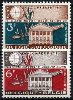 Belgium 1961 SG#1791-2 Interparliamentary Conference MH Set #D74767