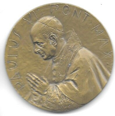 Vatican City ND(Ca.1960'S) Pope Paul VI Bronze Medal 50 mm Choice XF