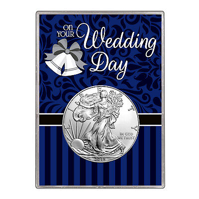 2015 $1 American Silver Eagle Gift Holder – Wedding Day Design