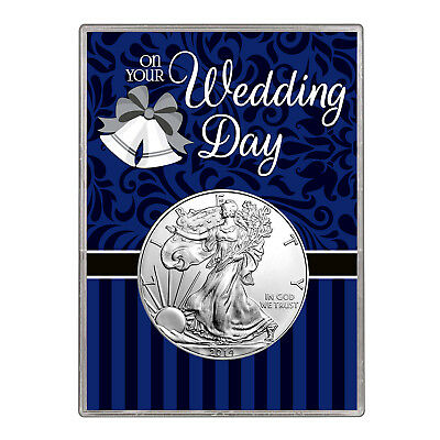 2014 $1 American Silver Eagle Gift Holder – Wedding Day Design