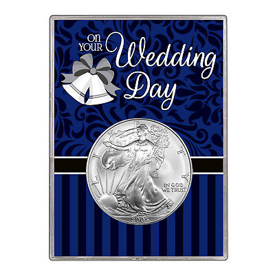 2005 $1 American Silver Eagle Gift Holder – Wedding Day Design