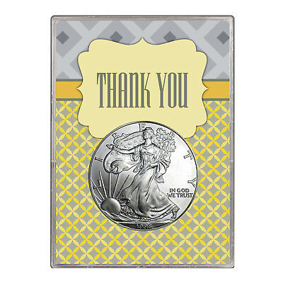 1998 $1 American Silver Eagle Gift Holder – Thank You Design
