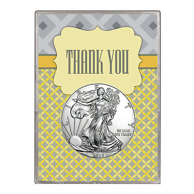 2018 $1 American Silver Eagle Gift Holder – Thank You Design
