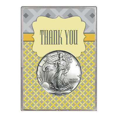 1994 $1 American Silver Eagle Gift Holder – Thank You Design
