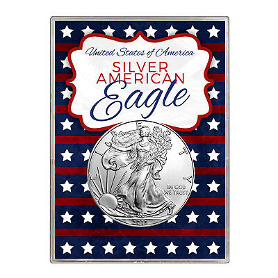 2015 $1 American Silver Eagle Gift Holder – Stars and Stripes Design
