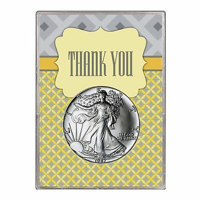 1987 $1 American Silver Eagle Gift Holder – Thank You Design