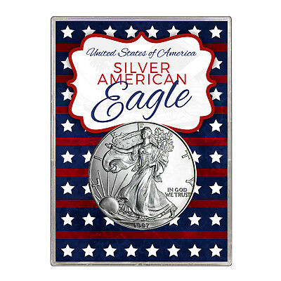 1997 $1 American Silver Eagle Gift Holder – Stars and Stripes Design