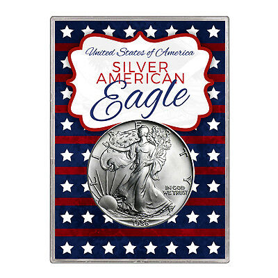 1986 $1 American Silver Eagle Gift Holder – Stars and Stripes Design