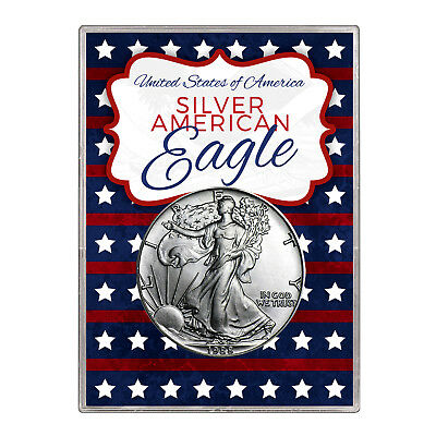 1988 $1 American Silver Eagle Gift Holder – Stars and Stripes Design