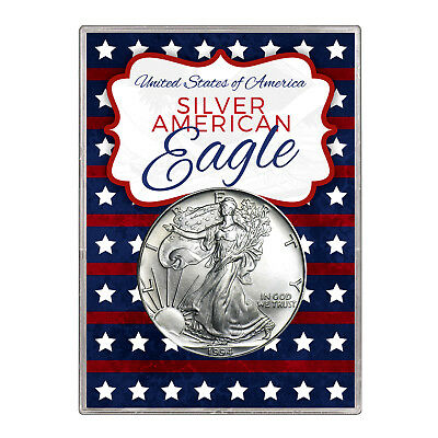 1994 $1 American Silver Eagle Gift Holder – Stars and Stripes Design