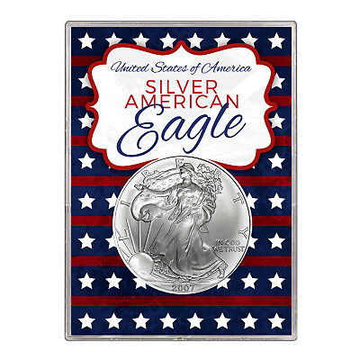 2007 $1 American Silver Eagle Gift Holder – Stars and Stripes Design