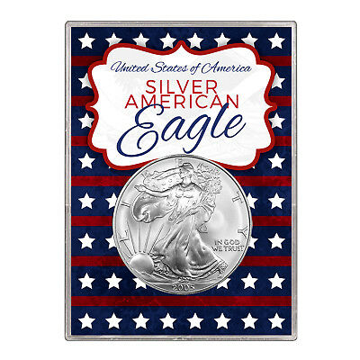 2005 $1 American Silver Eagle Gift Holder – Stars and Stripes Design