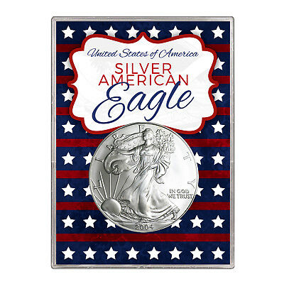 2004 $1 American Silver Eagle Gift Holder – Stars and Stripes Design