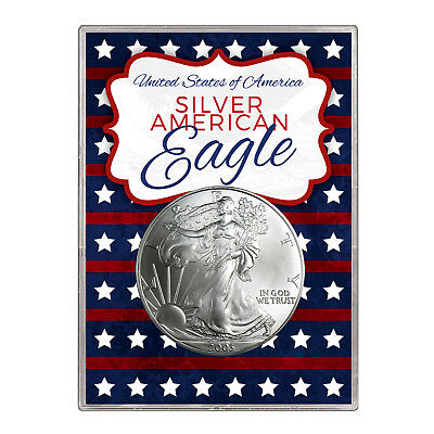 2003 $1 American Silver Eagle Gift Holder – Stars and Stripes Design