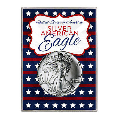 1987 $1 American Silver Eagle Gift Holder – Stars and Stripes Design