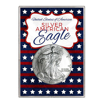 2001 $1 American Silver Eagle Gift Holder – Stars and Stripes Design