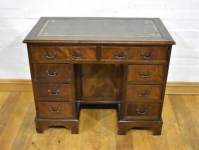 Antique style CHAPMANS SIESTA leather top writing desk