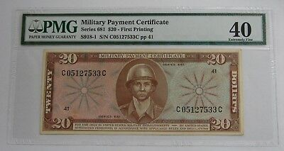 Series 681 - $20  - MPC Military Payment Certificate - PMG EF 40