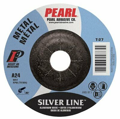 """*Clearance* 25//Pk Pearl 7/""""x1//8/""""x5//8-11 A24S Silver Line Pipeline Grinding Wheel"""