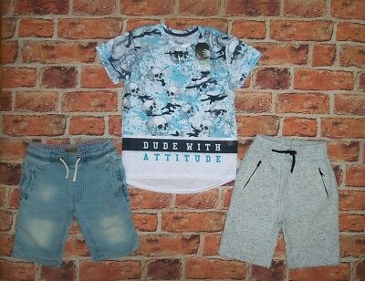 7 8 Years Next, Bnwt T Shirt Top Shorts Boys Trendy Summer Outfit Clothes Bundle