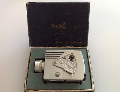 VINTAGE UNIVERSAL MINUTE-16 SUBMINIATURE Spy CAMERA IN BOX