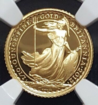 2012 Britannia 1/10 oz gold Great Britain 10 pound proof NGC PF69 Mintage: 2250