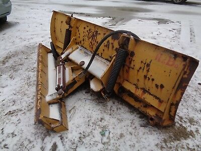 7 foot heavy duty power angle snow plow /dozer blade for skid steer