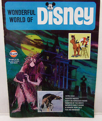 1970 Wonderful World of Disney Magazine Vol 1 #4 / Haunted Mansion -  Gulf Oil