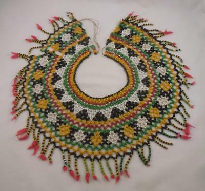 Vintage Xhosa Glass Beaded Tribal Collar Necklace South African Early Mid 20thc