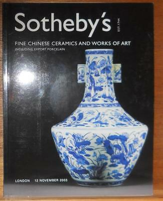 Sothebys Fine Chinese Ceramics And Works Of Art12/11/2003 London