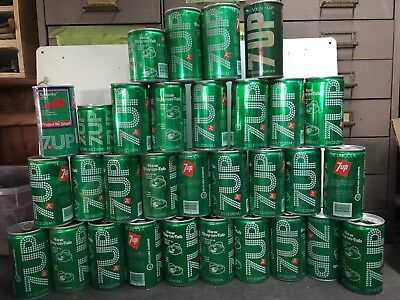 Assorted 7 UP Cans