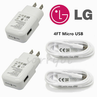 OEM Original LG V10 G4 G3 FLEX2 Adaptive Fast Wall Charger Travel Adapter Cable
