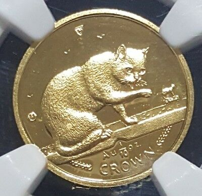 1999 Isle of Man 1/10 oz gold NGC PF66 Cameo