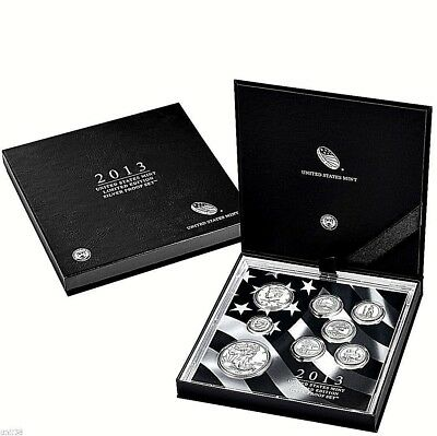 1- (#ls2) 2013 Limited Edition Eight (8) Coin Silver Proof Set