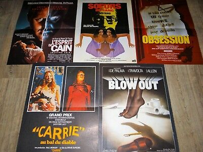brian de palma BLOW OUT ; CARRIE ; OBSESSION ... ! 5 affiches cinema
