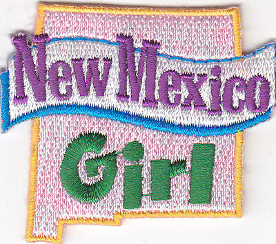 "Iron On Embroidered Patch// State Shape//Words /""INDIANA GIRL/"" Sayings Names"