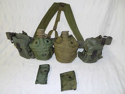 USGI Alice Equipment Belt Suspenders and Ammo Medic Canteen Pouches Set