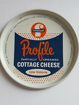 Vintage Foremost Cottage Cheese Metal Lid California Dairy