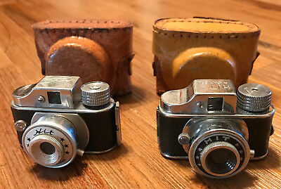 2 Vintage Mini Subminiature Hit Cameras In Good Work Condition
