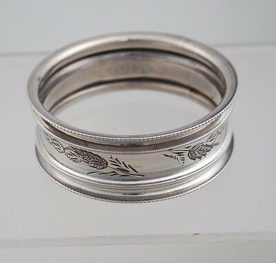 Antique Napkin Ring Sterling Engraved English