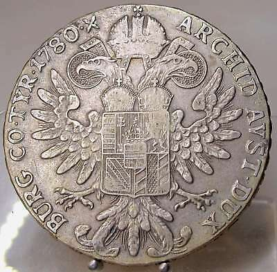 Maria Theresia Taler 1780, H64, Bombay, Silber, SELTEN !