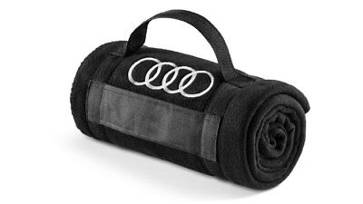 Fleecedecke Audi Collection, Audi Ringe, schwarz, 3291700800