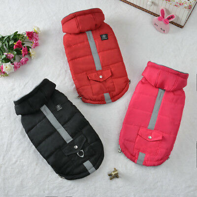 Pet Small Dog Puppy Cat Cotton Coat Jacket Hoodie Thick Apparel Outwear Clothes