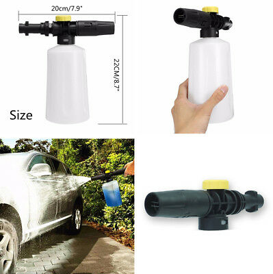 High Pressure Foam Cannon Gun Car Wash Soap Sprayer Adjustable Valve Universal