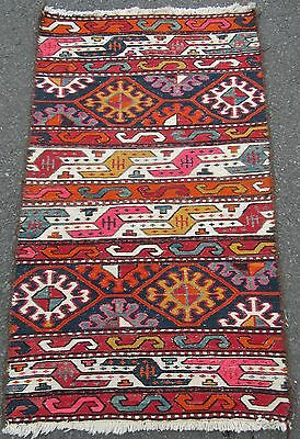 Attractive Colourful Turkish Caucasian Kurdish Soumac Sumak Kilim Kelim Rug
