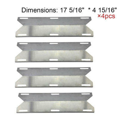 4pcs Stainless Replacement Steel Heat Plate for BBQ Party Charmglow Gas Grill